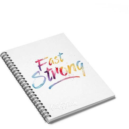 Fasting Encouragement Notebook Fast Strong - Kari Yearous Photography WinonaGifts KetoGifts LoveDecorah