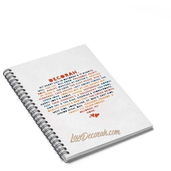 Spiral Notebook My Heart Lies In Decorah - Kari Yearous Photography WinonaGifts KetoGifts LoveDecorah