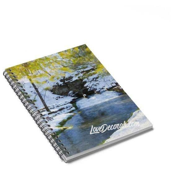 Spiral Notebook Siewers Spring Decorah Iowa - Kari Yearous Photography WinonaGifts KetoGifts LoveDecorah