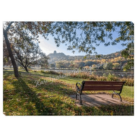 "Canvas Wrap 5"" x 7"" Seat with a View of Sugarloaf Winona, Minnesota - Kari Yearous Photography"
