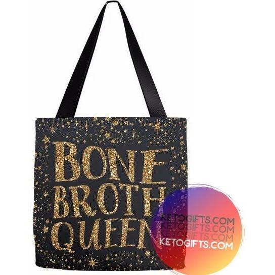 Keto Gift Paleo Tote Bag Bone Broth Queen - Kari Yearous Photography