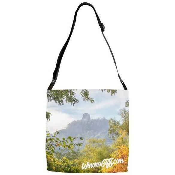 Adjustable Strap Tote Bag Rainbow Sugarloaf - Kari Yearous Photography KetoLaughs