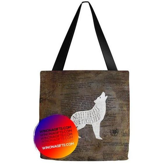 Tote Bag Nevertheless She Persisted - Kari Yearous Photography WinonaGifts KetoGifts LoveDecorah