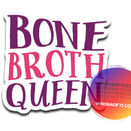 Paleo Keto Decal Bone Broth Queen
