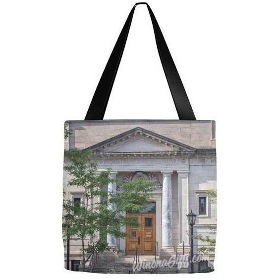 Tote Bag Winona Public Library Entrance - Kari Yearous Photography KetoLaughs