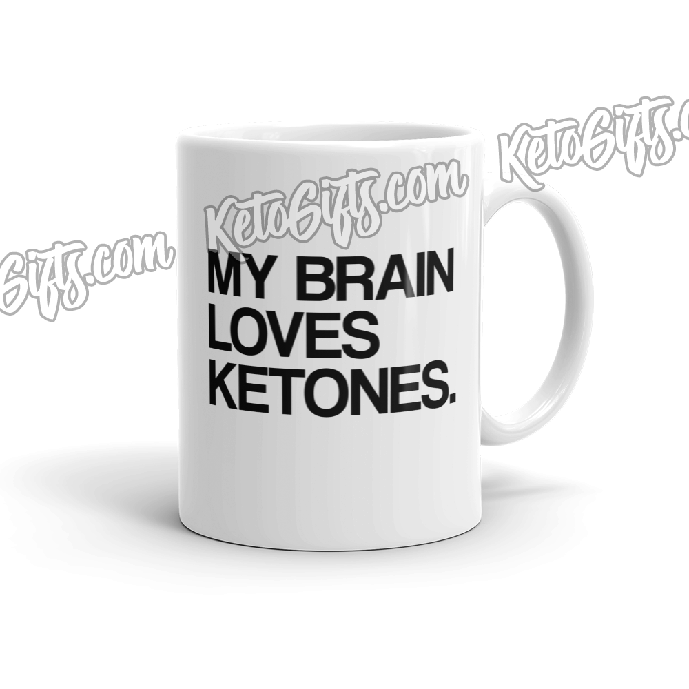 Keto Mug My Brain Loves Ketones - Kari Yearous Photography KetoLaughs