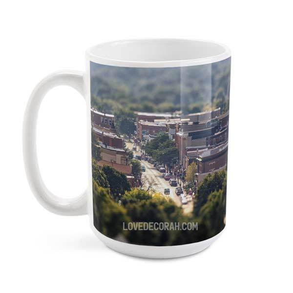 Decorah Iowa Coffee Mug Downtown Scene - Kari Yearous Photography WinonaGifts KetoGifts LoveDecorah