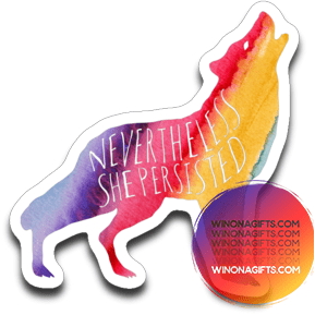 Decal, Nevertheless She Persisted, Rainbow Watercolor - Kari Yearous Photography WinonaGifts KetoGifts LoveDecorah