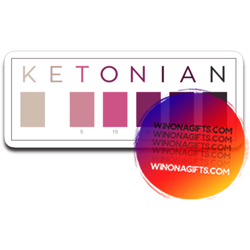 Keto Decal Ketonian Test Strip Colors - Kari Yearous Photography WinonaGifts KetoGifts LoveDecorah