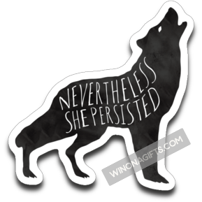 Decal Nevertheless She Persisted, Black Ink - Kari Yearous Photography KetoLaughs