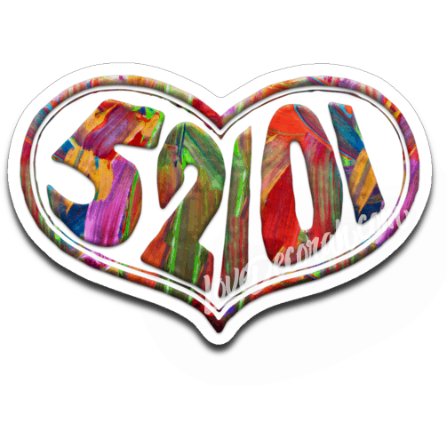 52101 Heart Decal, Painted Look