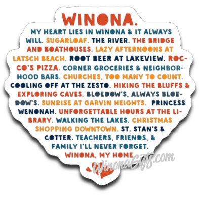 Decal Heart Lies In Winona, St Stan's & Cotter - Kari Yearous Photography WinonaGifts KetoGifts LoveDecorah