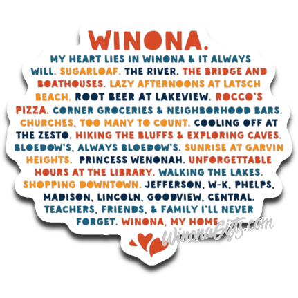 Decal My Heart Lies In Winona, Public Schools - Kari Yearous Photography