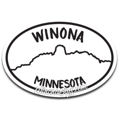 Winona Decal Oval With Sugarloaf - Kari Yearous Photography WinonaGifts KetoGifts LoveDecorah
