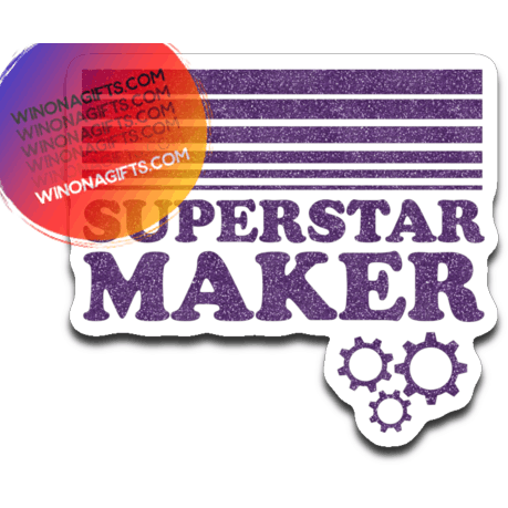 Superstar Maker Decal, Purple Glitter Look - Kari Yearous Photography WinonaGifts KetoGifts LoveDecorah