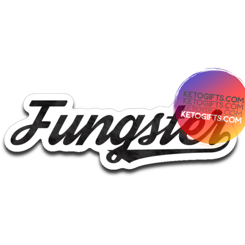 Fasting Fungster Decal, Black Ink