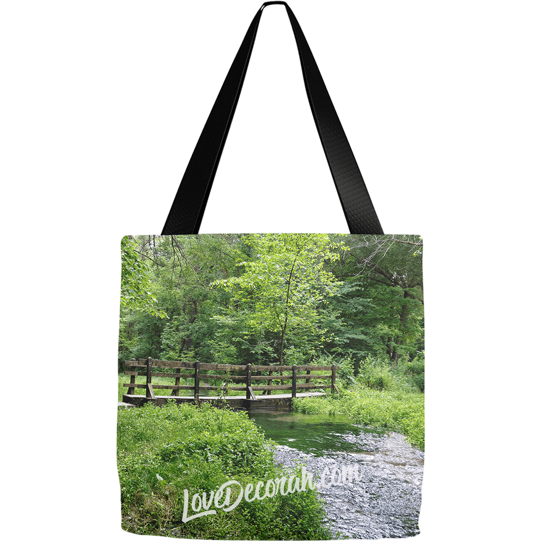 Decorah Iowa Souvenir Tote Bag Twin Springs by LoveDecorah.com