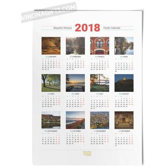 Beautiful Winona 2018 Poster Calendar