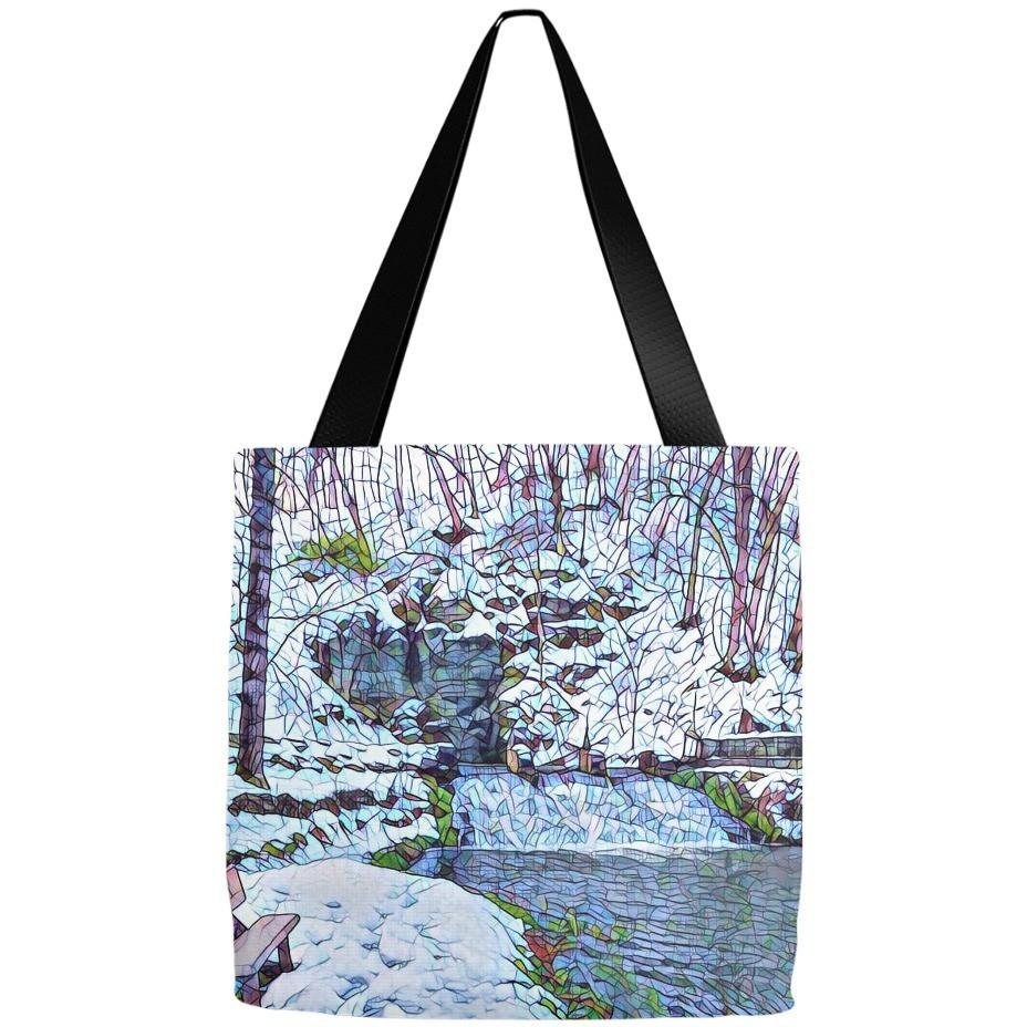 Tote Bag Siewer's Springs Stained Glass Look - Kari Yearous Photography WinonaGifts KetoGifts LoveDecorah