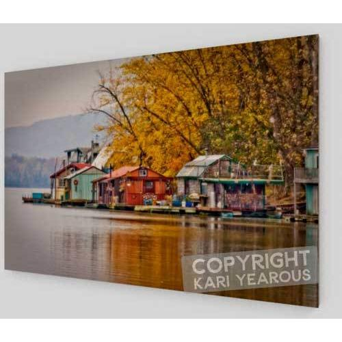 Wood Print Autumn at Latsch Island Winona Minnesota - Kari Yearous Photography WinonaGifts KetoGifts LoveDecorah