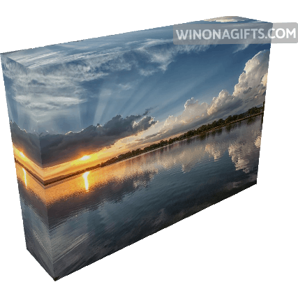 "Canvas Wrap 5"" x 7"" July Sunset East Lake Winona - Kari Yearous Photography WinonaGifts KetoGifts LoveDecorah"