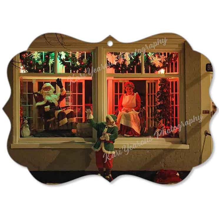 Canvas Ornament Santa and Mrs Claus at Bloedow Bakery - Kari Yearous Photography KetoLaughs