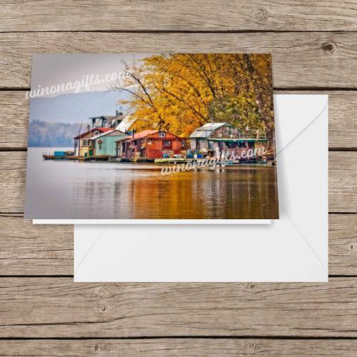 "Notecard 5""x7"" Autumn At Latsch Island, 5 pk - Kari Yearous Photography WinonaGifts KetoGifts LoveDecorah"