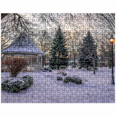 Puzzle Snowy Gazebo at Windom Park Winona - Kari Yearous Photography KetoLaughs