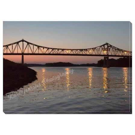 "Canvas Wrap 5""x7"" Winona Bridge At Sunset - Kari Yearous Photography WinonaGifts KetoGifts LoveDecorah"