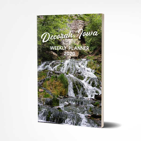 "Decorah Iowa 2020 Weekly Planner, 5"" x 8"" Size, Dunning Springs - Kari Yearous Photography WinonaGifts KetoGifts LoveDecorah"