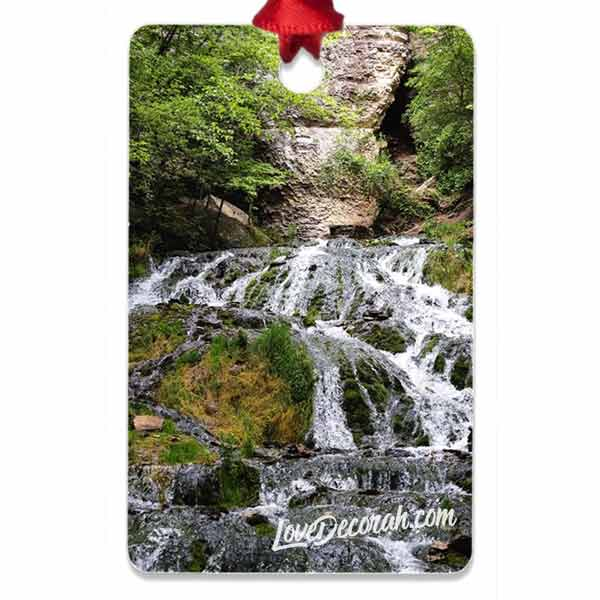 Decorah Iowa Metal Ornament Dunning Springs - Kari Yearous Photography WinonaGifts KetoGifts LoveDecorah