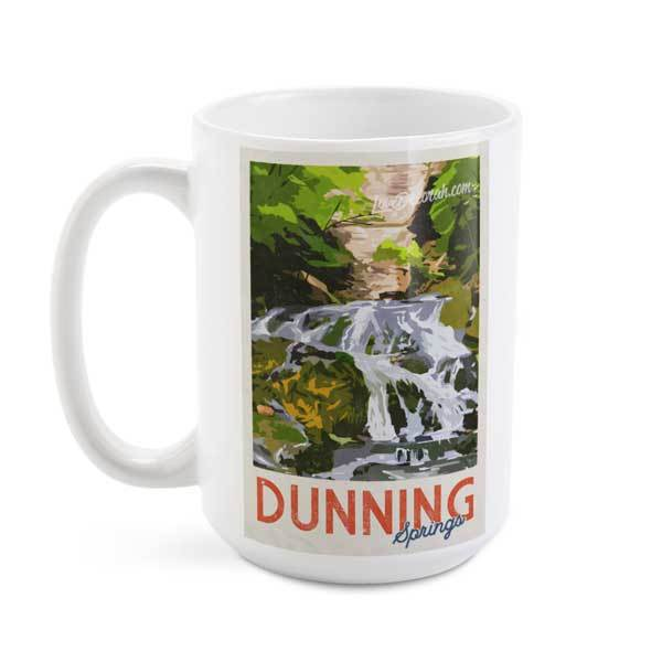 Decorah Iowa Mug Vintage Dunning Springs, 15 oz - Kari Yearous Photography WinonaGifts KetoGifts LoveDecorah