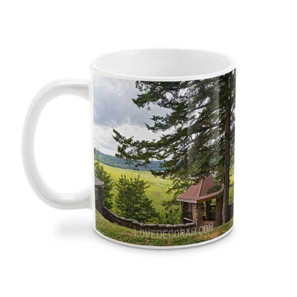 Decorah Iowa Mug, Phelps Park Overlook in Summer, 15 oz - Kari Yearous Photography WinonaGifts KetoGifts LoveDecorah