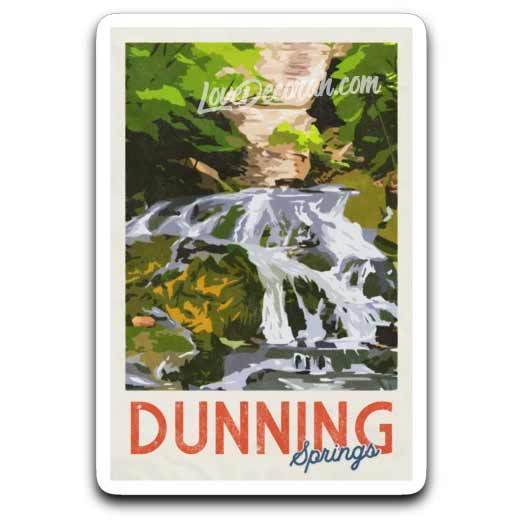 Dunning Springs Vintage Style Decal - Kari Yearous Photography WinonaGifts KetoGifts LoveDecorah