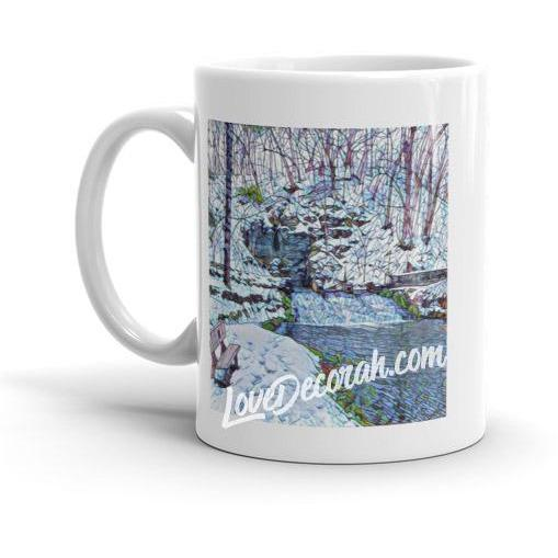 Mug Siewer Spring in Decorah, Iowa, Stained Glass Look - Kari Yearous Photography WinonaGifts KetoGifts LoveDecorah