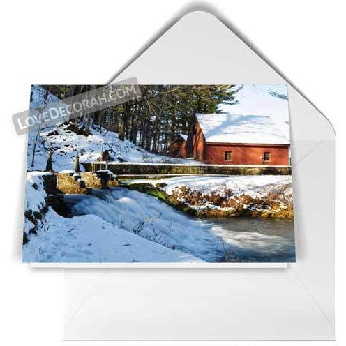 Decorah Folded Notecard Siewer Springs in Winter - Kari Yearous Photography WinonaGifts KetoGifts LoveDecorah