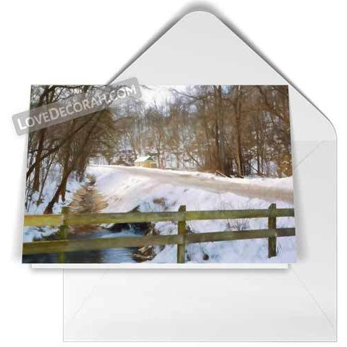 Decorah Notecard Twin Springs Road - Kari Yearous Photography WinonaGifts KetoGifts LoveDecorah