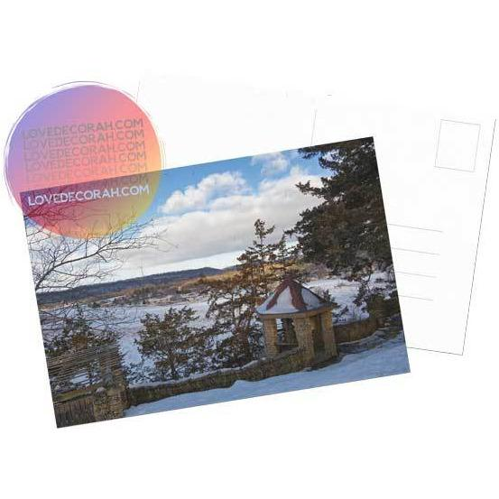 Decorah Iowa Postcard Phelps Overlook in Winter - Kari Yearous Photography WinonaGifts KetoGifts LoveDecorah