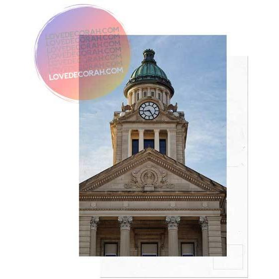 Decorah Iowa Postcard Winneshiek County Courthouse - Kari Yearous Photography WinonaGifts KetoGifts LoveDecorah