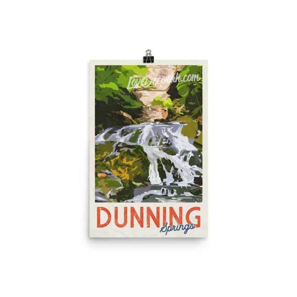 "Decorah Iowa 12"" x 18"" Poster, Dunning Springs Vintage Travel Poster - Kari Yearous Photography WinonaGifts KetoGifts LoveDecorah"