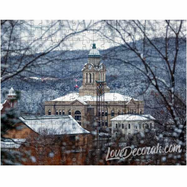 Decorah Puzzle Winneshiek County Courthouse in Snow