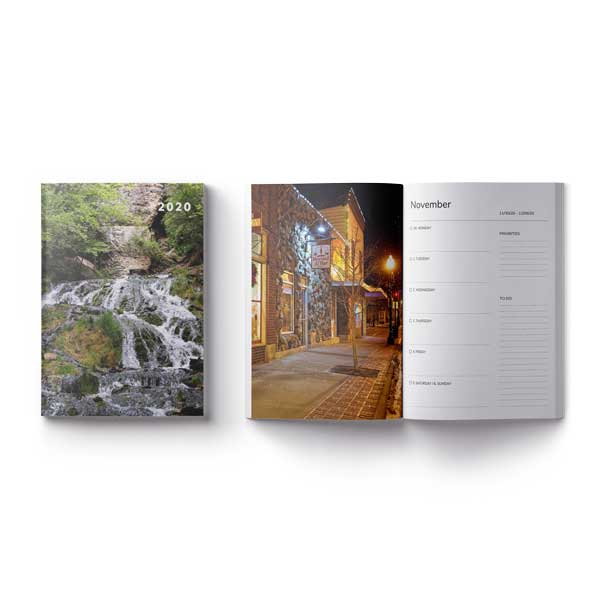 Decorah Iowa 2020 Weekly Planner, Letter Sized, Dunning Springs: Purchase On Amazon - Kari Yearous Photography WinonaGifts KetoGifts LoveDecorah