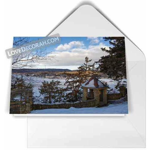 Decorah Notecard Phelps Park Overlook in Winter - Kari Yearous Photography KetoLaughs