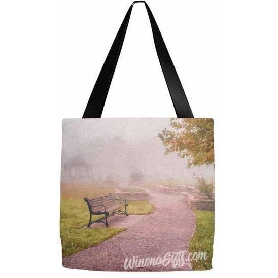 Tote Bag Rose Garden Path Digital Painting - Kari Yearous Photography KetoLaughs