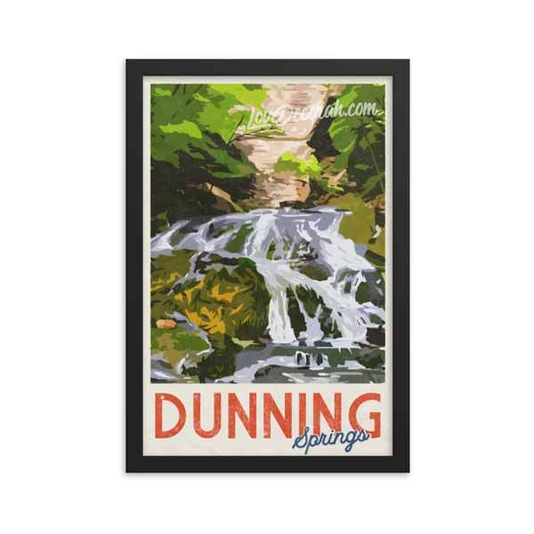 Framed Poster Dunning Springs Vintage Travel Poster - Kari Yearous Photography WinonaGifts KetoGifts LoveDecorah