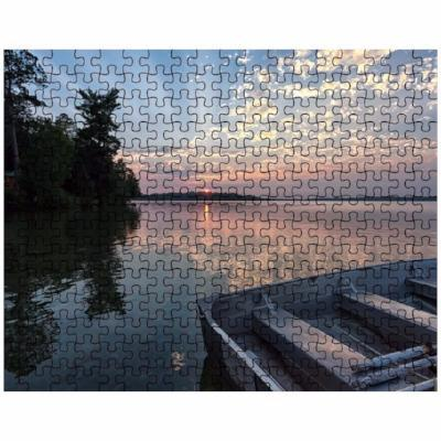 Puzzle Pineridge Sunset with Beams Deer Lake