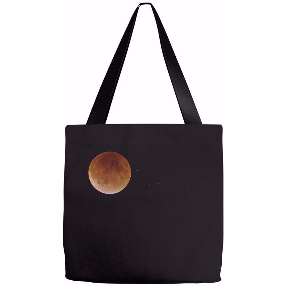 Tote Bag Blood Moon Over Winona, Minnesota - Kari Yearous Photography KetoLaughs