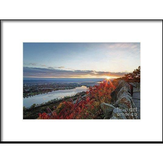 Fall Sunrise At Garvin Heights Winona - Framed Print