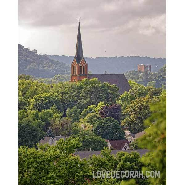 First Lutheran Church Decorah In Summer - Art Print - Kari Yearous Photography WinonaGifts KetoGifts LoveDecorah