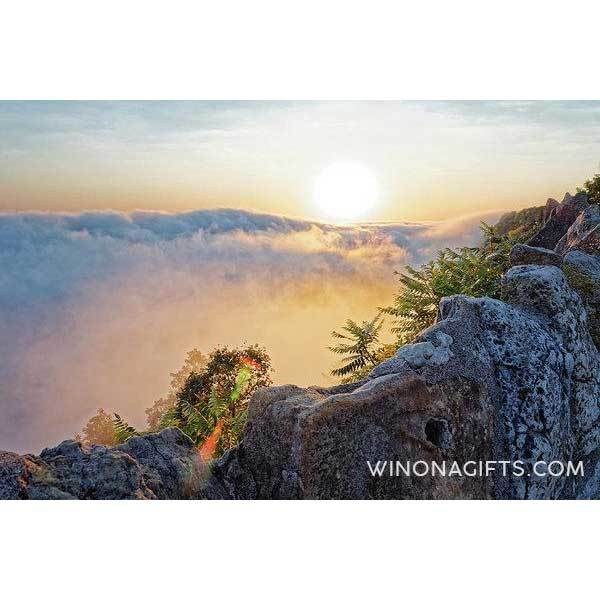 Foggy Garvin Heights Sunrise With Wall - Art Print - Kari Yearous Photography WinonaGifts KetoGifts LoveDecorah